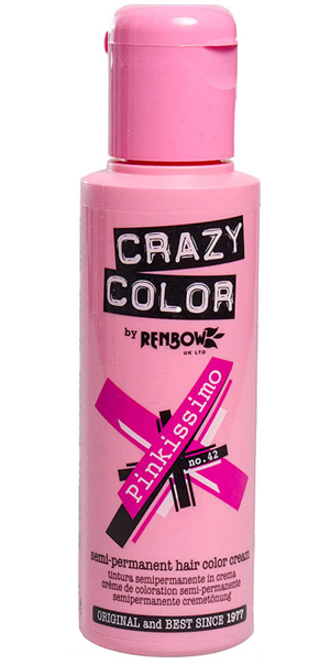 Tube of Crazy Color pink hair dye : Dyeing your hair at home