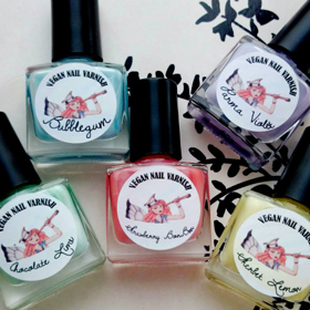 vegan nail varnishes by fairypants