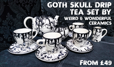 Halloween finds - Skull tea set