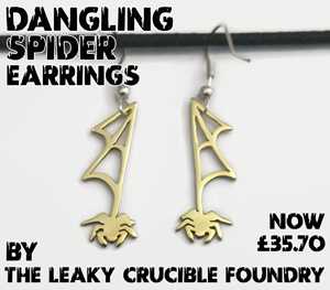 Halloween finds - Spider earrings