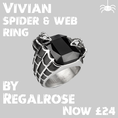 Halloween finds - Spider web ring