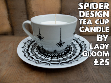 Halloween finds - Spider tea cup candle
