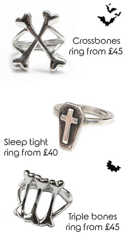 Halloween finds - Bloody Mary Metal rings