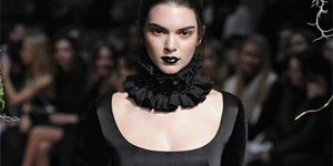 Dark fashion at london fashion week