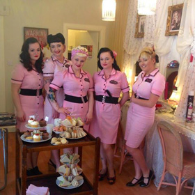 the team at pinups salon, glasgow