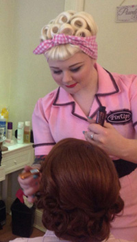 vintage styling at pin ups salon