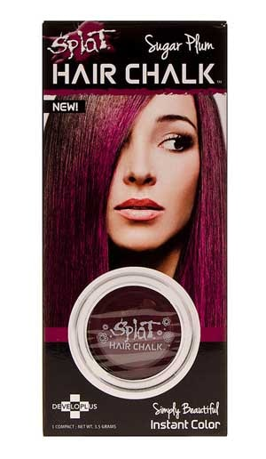 Colourful hair chalk : Temporary hair colour