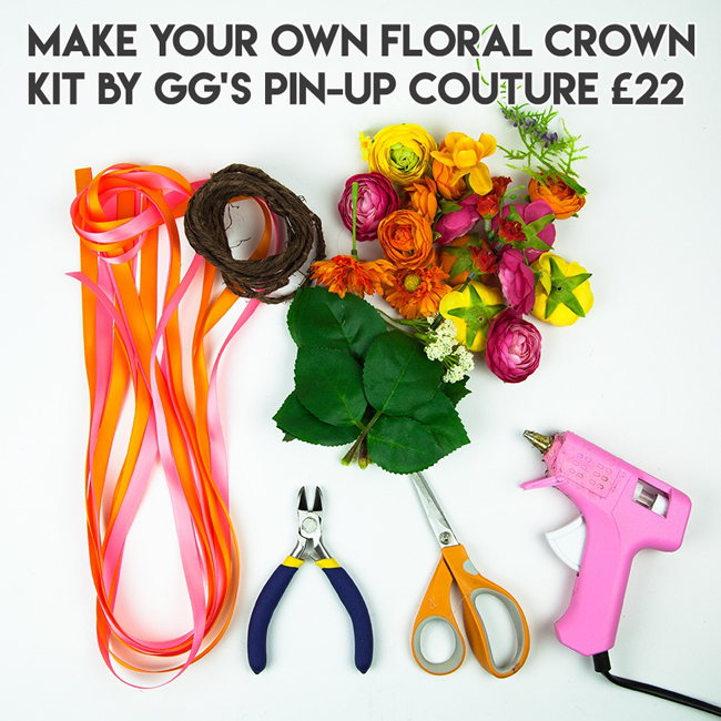 Alternative xmas gifts - Floral crown kit