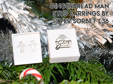 Alternative Christmas gift - Gingerbread man earrings : Alt Fashion