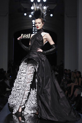 Jean Paul Gaultier gothic couture dress