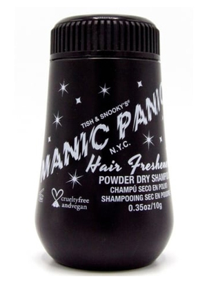 Colourful hair care products : Manic Panic dry shampoo