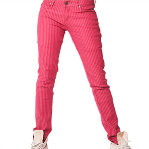 pink pinstripe jeans