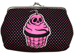 Sourpuss skull cake coin purse