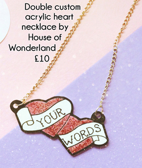 Alternative valentines gifts - Custom heart necklace