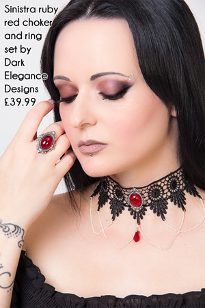 Alternative Valentines - Sinistra choker and ring set
